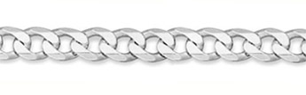 8mm Sterling Silver Curb Link Chain