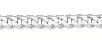 9.5mm Sterling Silver Curb Link Chain