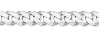 11mm Sterling Silver Curb Link Bracelet