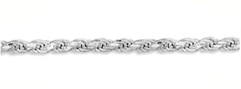 5mm Sterling Silver Diamond Cut Rope Chain