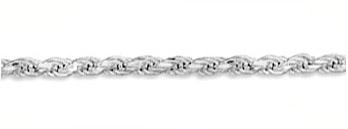 5mm Sterling Silver Diamond Cut Rope Bracelet