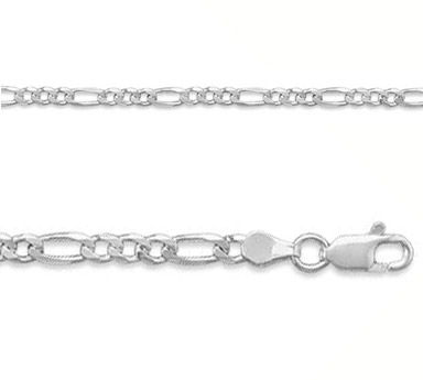 3.5mm Sterling Silver Figaro Link Chain