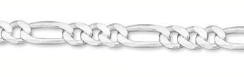 8mm Sterling Silver Figaro Link Bracelet