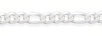 10.5mm Sterling Silver Figaro Link Chain