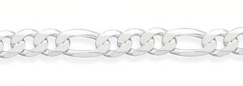 10.5mm Sterling Silver Figaro Link Bracelet