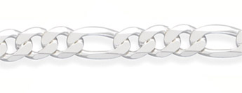 13mm Sterling Silver Figaro Link Chain