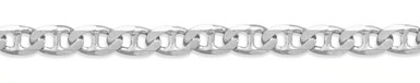 6.5mm Sterling Silver Mariner Link Bracelet