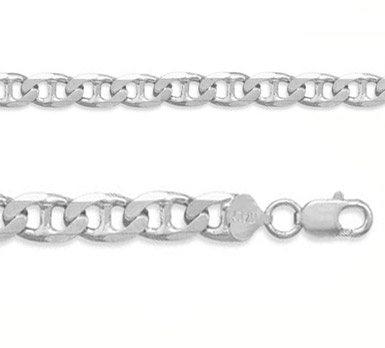 6.5mm Sterling Silver Mariner Link Chain
