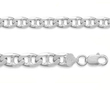10mm Sterling Silver Mariner Link Bracelet