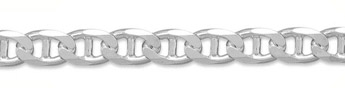 13.5mm Sterling Silver Mariner Link Chain
