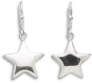 Puffed Star Sterling Silver Earrings