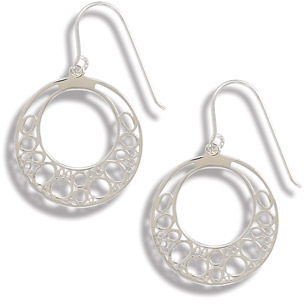 Circle Design Sterling Silver Earrings