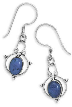 Lapis Sterling Silver Filigree Earrings