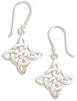 Celtic Knot work Sterling Silver Earrings