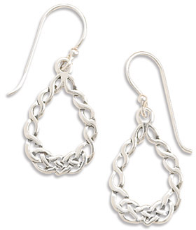 Braided Sterling Silver Celtic Knot work Earrings
