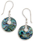 Paua Shell Earrings in Sterling Silver