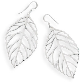 Large Leaf Cut out Earrings