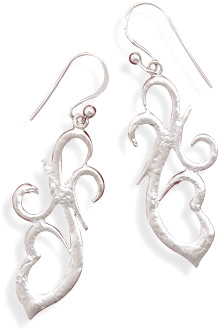 Hammered Filigree Sterling Silver Earrings