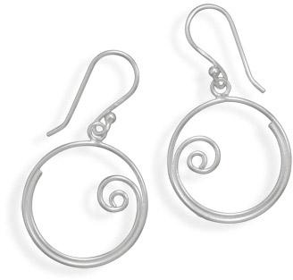 swirl earrings sterling silver