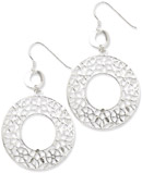 Sterling Silver Floral Design Earrings