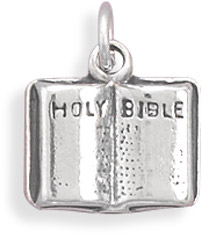 Holy Bible Sterling Silver Charm