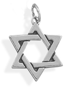 Star of David Sterling Silver Charm Pendant