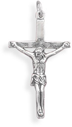 Antiqued Sterling Silver Crucifix Pendant