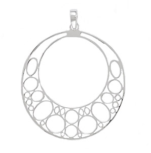 Bubble Design Sterling Silver Pendant