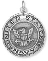 United States Navy Medallion Charm in Sterling Silver