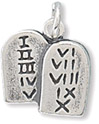 Ten Commandments Sterling Silver Charm