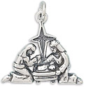 Sterling Silver Nativity Charm
