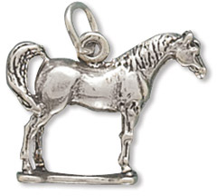 Sterling Silver Standing Horse Charm