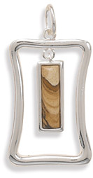 Picture Jasper Cut Out Pendant
