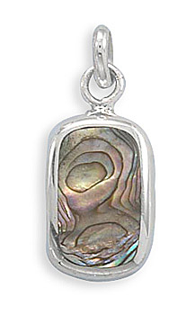 Sterling Silver and Abalone Shell Pendant