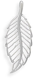 Sterling Silver Cut Out Leaf Design Pendant