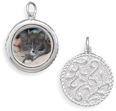 Reversible Picture Frame Pendant in Sterling Silver