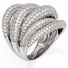 Sterling Silver CZ Cluster Ring