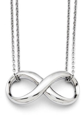 Double Strand Stainless Steel Infinity Necklace