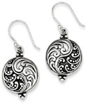 Antique Filigree Sterling Silver Earrings