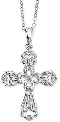 Call on Me Sterling Silver Cross Necklace