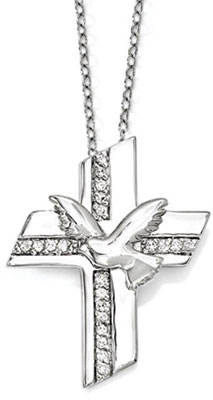 Confirmation Blessings Sterling Silver Cross Necklace