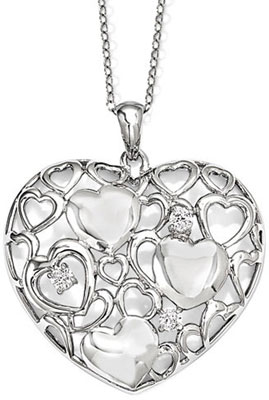 Full of Love Heart Pendant in Sterling Silver