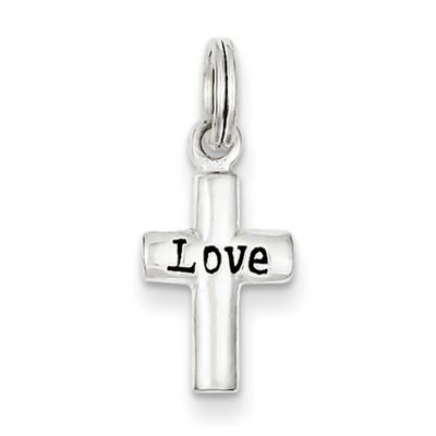 Small Sterling Silver Love Cross Pendant