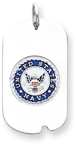 US Navy Sterling Silver Dog Tag Necklace with Enamel
