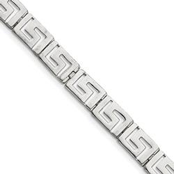 Women's Greek Key Bracelet in Sterling Silver