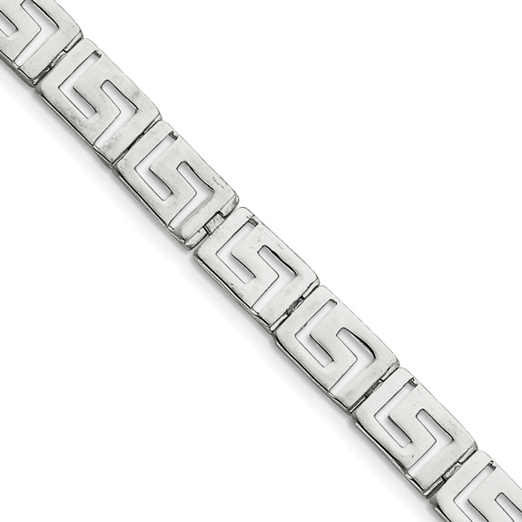 Women's Greek Key Bracelet in Sterling Silver