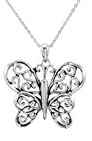 The Butterfly Principle Necklace in Sterling Silver