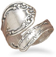 Antiqued Sterling Silver Spoon Ring