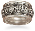 Rope Design Sterling Silver Antiqued Ring