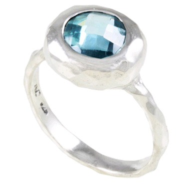 Blue Ocean Sterling Silver Blue Topaz Ring